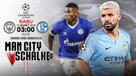 Pertandingan Manchester City vs Schalke 04. - INDOSPORT