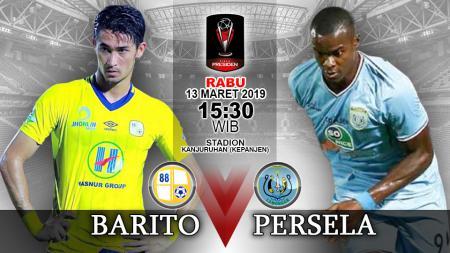 Pertandingan Barito Putera vs Persela Lamongan. - INDOSPORT