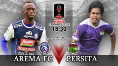 Indosport - Pertandingan Arema FC vs Persita Tangerang.