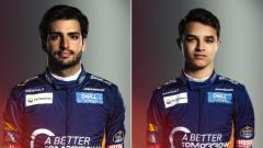 Indosport - Carlos Sainz dan Lando Norris, dua pembalap McLaren