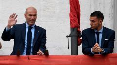 Indosport - Zinedine Zidane dan Daniel Ceballos