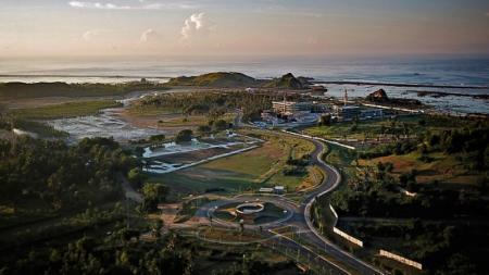 MGPA selaku promotor lokal untuk kejuaraan MotoGP 2021 kembali merilis video perkembangan pembangunan sirkuit Mandalika, Lombok, Nusa Tenggara Barat (NTB). - INDOSPORT