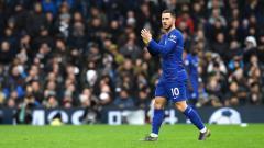 Indosport - Pemain megabintang Chelsea, Eden Hazard terus dikabarkan segera didatangkan klub raksasa Spanyol, Real Madrid.