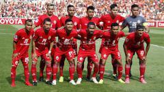 Indosport - Skuat Persija Jakarta saat menghadapi Shan United.