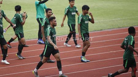 Saddil Ramdani sudah terlihat bergabung dengan Timnas Indonesia U-23 pada laga uji coba di Stadion Madya Senayan, Selasa (12/03/19). - INDOSPORT