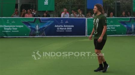 Legenda Barcelona, Carles Puyol saat mengunjungi Indonesia. - INDOSPORT