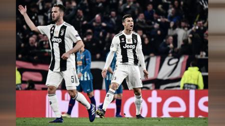 Selebrasi Cristiano Ronaldo. - INDOSPORT