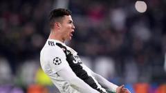 Indosport - Ronaldo membalas selebrasi yang pernah dilakukan oleh Diego Simeone
