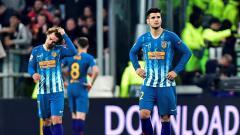 Indosport - Kekecewaan Alvaro Morata usai Atletico Madrid kalah dari Juventus