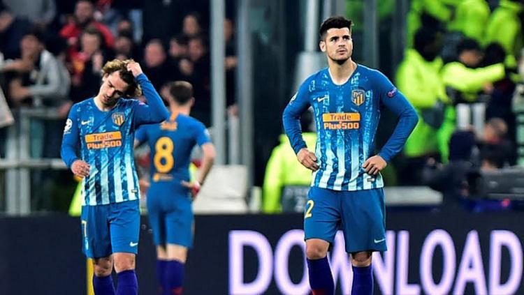 Kekecewaan Alvaro Morata usai Atletico Madrid kalah dari Juventus Copyright: Getty Images