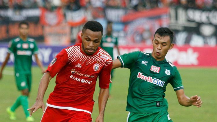 Pemain Persija, Yan Pieter Nasadit, ketika berlaga di Liga 1 2018 Copyright: twitter.com/Liga1Match