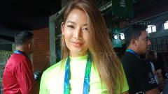 Indosport - Maria Selena, model sekaligus selebritas pecinta olahraga