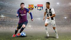 Indosport - Lionel Messi vs Cristiano Ronaldo.