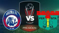 Indosport - Pertandingan Arema vs Persita