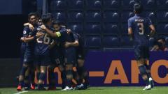Indosport - Selebrasi gol kemenangan Buriram United di Liga Champions Asia