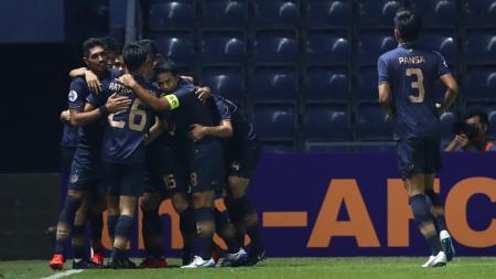 Selebrasi gol kemenangan Buriram United di Liga Champions Asia - INDOSPORT