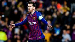 Indosport - Selebrasi Lionel Messi usai Mencetak gol