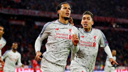 Selebrasi gol Liverpool - INDOSPORT