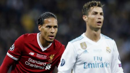 Virgil van Dijk dan Cristiano Ronaldo - INDOSPORT