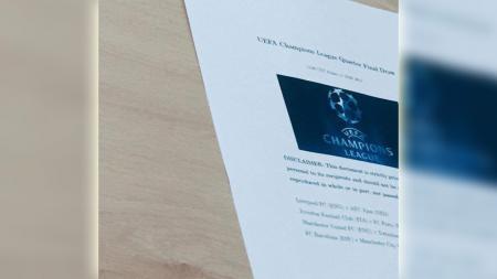 Hasil drawing perempatfinal Liga Champions 20182019 bocor di media sosial. - INDOSPORT