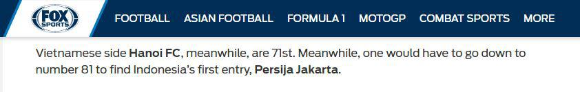 Media Asing Sebut Persija sebagai Klub Terbaik di Indonesia Copyright: Fox Sports Asia