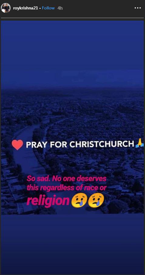 Salah satu pesepak bola di Australia, Roy Krishna turut prihatin dengan penembakan Masjid. Copyright: https://www.instagram.com/roykrishna21/