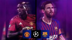 Indosport - Manchester United vs Barcelona