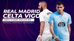 Indosport - Prediksi Real Madrid vs Celta Vigo.