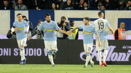para pemain SPAL dalam laga kontra AS Roma - INDOSPORT