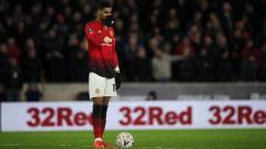 Indosport - Marcus Rashford, penyerang Manchester United.