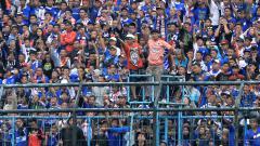 Indosport - Aremania diminta untuk menjaga kondusivitas di laga Arema FC vs PSS Sleman dalam Liga 1 2019.