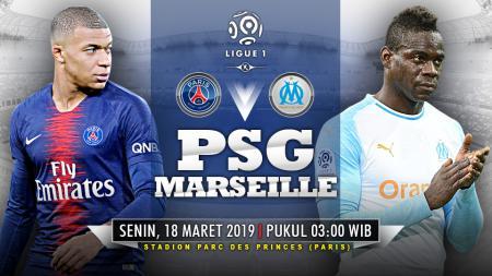 Pertandingan Paris Saint-Germain vs Marseille. - INDOSPORT