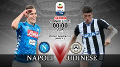 Indosport - Prediksi pertandingan Napoli vs Udinese.