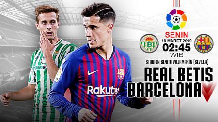 Pertandingan Real Betis vs Barcelona. - INDOSPORT