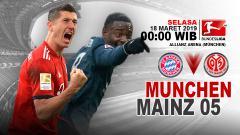 Indosport - Prediksi pertandingan Bayern Munchen vs Mainz 05.