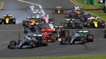 Start Grand Prix F1 Australia di Melbourne Sirkuit Grand Prix pada 17 Maret 2019 di Melbourne, Australia. - INDOSPORT