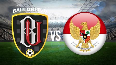 Pertandingan persahabatan antara Bali United vs Indonesia U-23. - INDOSPORT