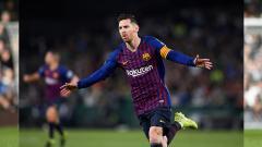 Indosport - Selebrasi Lionel Messi