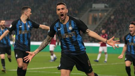 Pemain Inter Milan Berselebrasi di Della Madonina - INDOSPORT