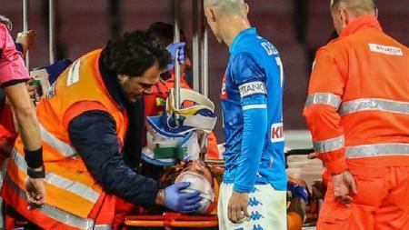 David Ospina pingsan saat laga Napoli vs Udinese sedang berlangsung - INDOSPORT