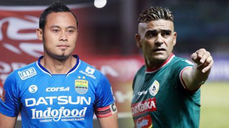 Atep Rizal dan Cristian Gonzales, pemain yang dibuang dari club karena sudah tua. - INDOSPORT