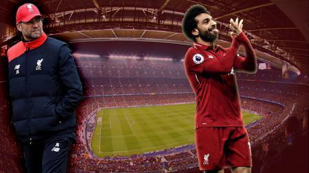Mohamed Salah dan sang pelatih Liverpool, Jurgen Klopp. - INDOSPORT