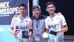 Indosport - Pasangan Ganda Putra, Fajar Alfian/Muhammad Rian Ardianto sukses menjadi juara Swiss Open 2019