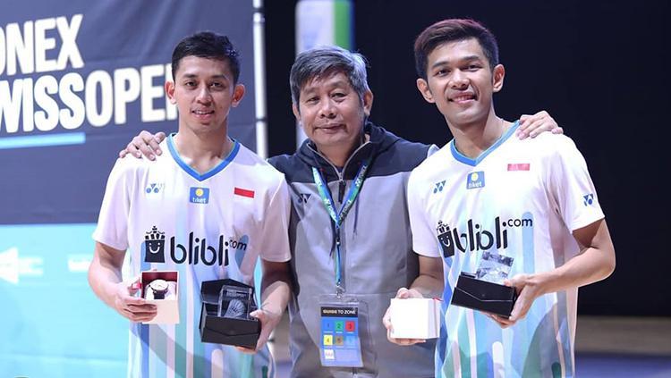 Pasangan Ganda Putra, Fajar Alfian/Muhammad Rian Ardianto sukses menjadi juara Swiss Open 2019 Copyright: PBSI