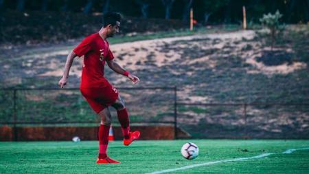 Otavio Dutra saat mengenakan jersey Timnas Indonesia untuk persiapan uji coba melawan League 2 All Star (Australia). - INDOSPORT