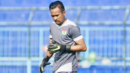 Kiper Persita Tangerang di Liga 2 2019, Annas Fitranto. - INDOSPORT