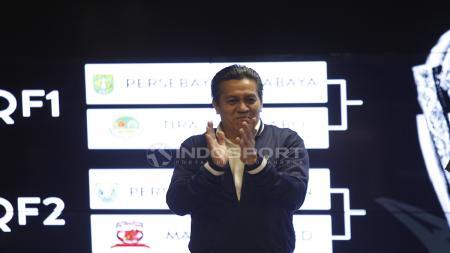 Gusti Randa saat menghadiri acara drawing babak 8 besar Piala Presiden 2019. - INDOSPORT