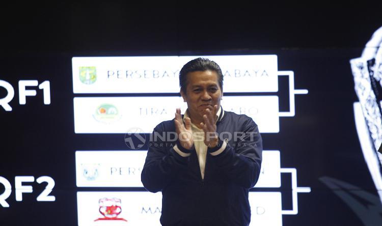 Gusti Randa sebagai PLT Ketum PSSI hadir drawing Piala Presiden 2019. Copyright: Herry Ibrahim/INDOSPORT