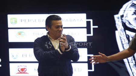 Gusti Randa sebagai PLT Ketum PSSI hadir drawing Piala Presiden 2019. - INDOSPORT