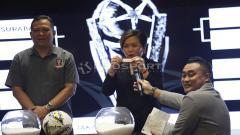 Indosport - Wakil Ketua Harsiwi Achmad dalam event drawing Piala Presiden 2019.